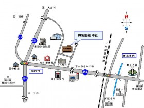 鮭川本社案内図